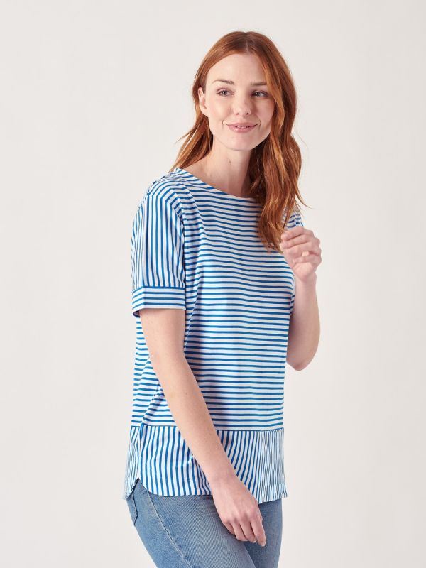 Addison BLUE Stripe T-Shirt | Quba & Co