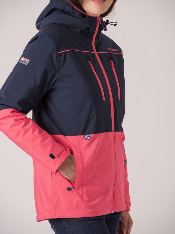 Agna X-Series Waterproof Technical Jacket - Navy/Fuchsia Pink
