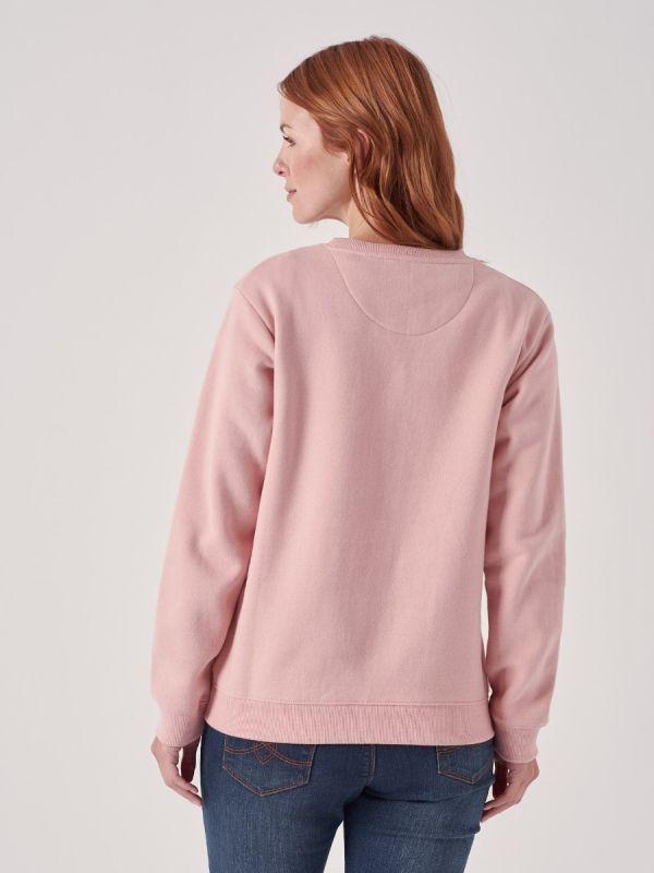 Aimee PINK Logo Sweatshirt   Quba & Co