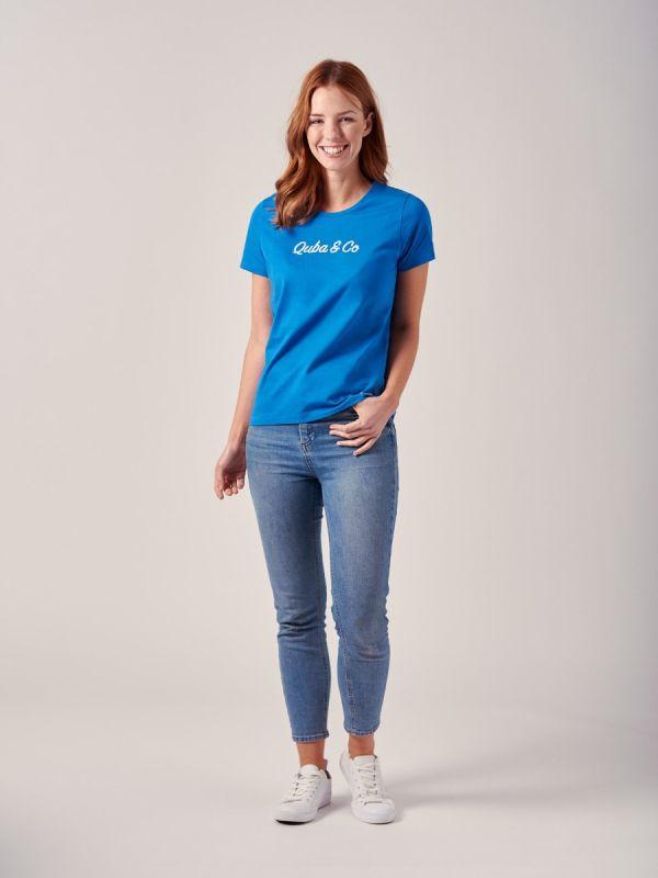 Alicia BLUE Logo T-Shirt | Quba & Co