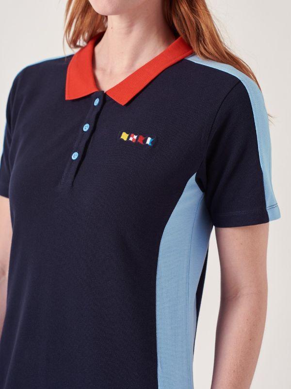 Alma NAVY X-Series Polo Dress   Quba & Co