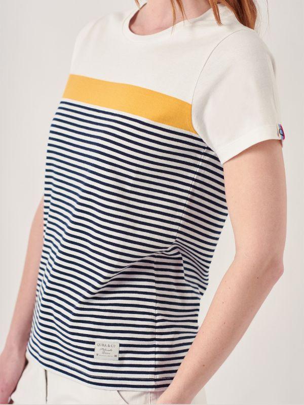 Arla NAVY Stripe T-Shirt | Quba & Co