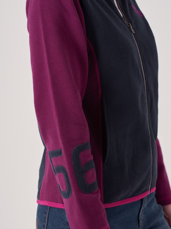 Arelette NAVY X-Series Full Zip Sweatshirt | Quba & Co