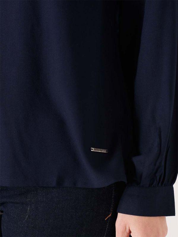 Quba & Co Ladies navy blue blouse shirt for smart casual wear