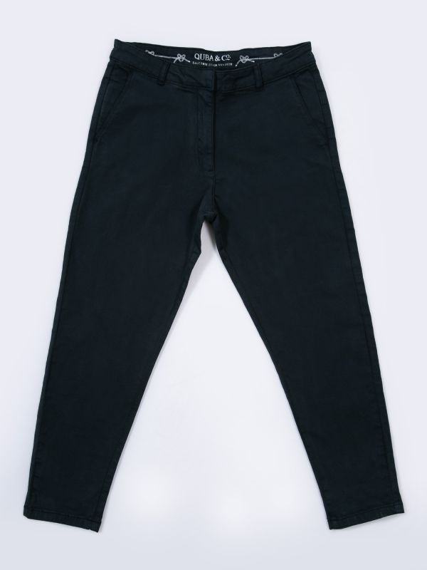 Baswood NAVY Twill Trousers | Quba & Co