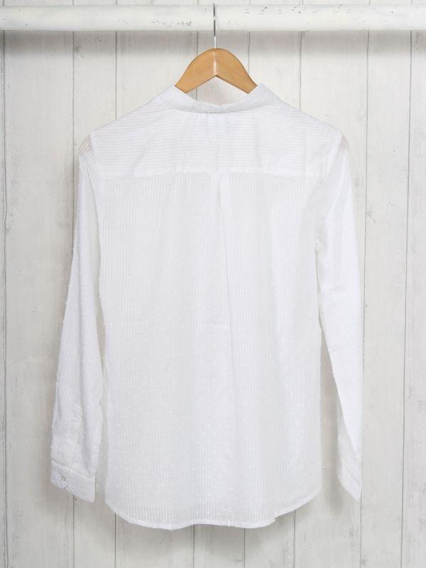 Beebalm WHITE Cotton Shirt | Quba & Co