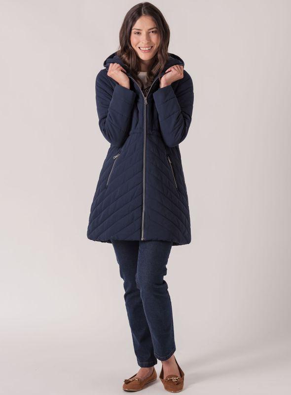 Benita Padded Jacket - Navy | Quba & Co Outerwear