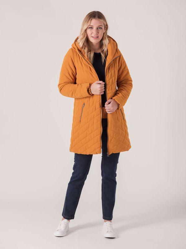 Benita Padded Jacket - Mustard Yellow | Quba & Co Outerwear