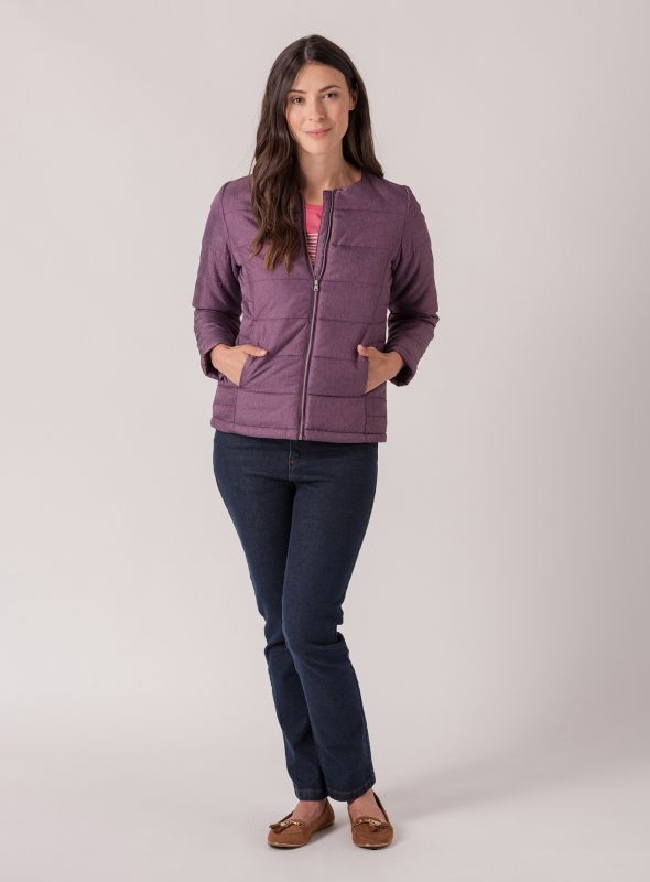 Berit Lightweight Jacket - Purple Berry | Quba & Co Outerwear