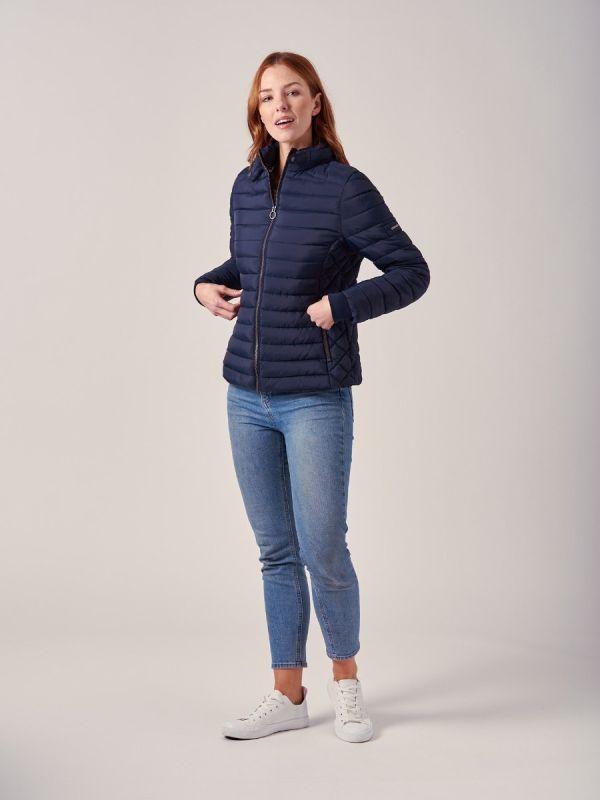 Calida NAVY Quilted Puffa Jacket   Quba & Co