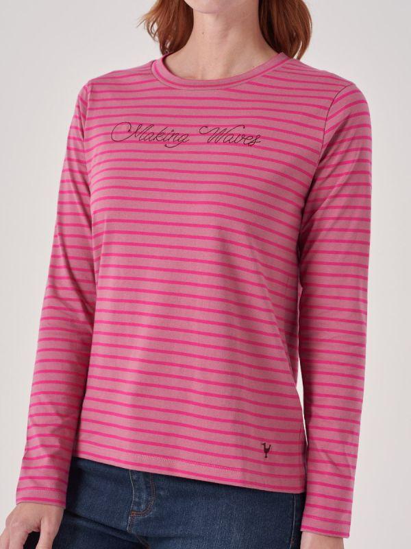 Charlotte PINK Slogan T-Shirt   Quba & Co