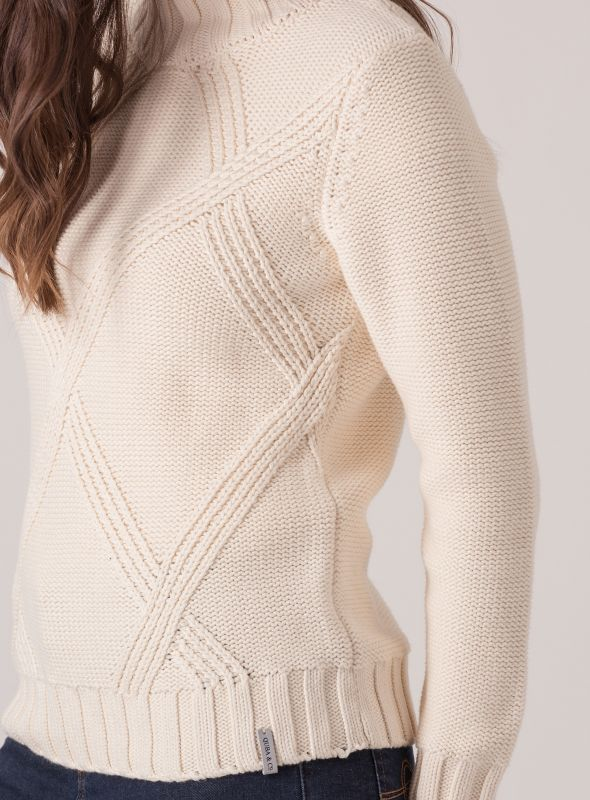 Cissy Chunky Cable Jumper - Cream