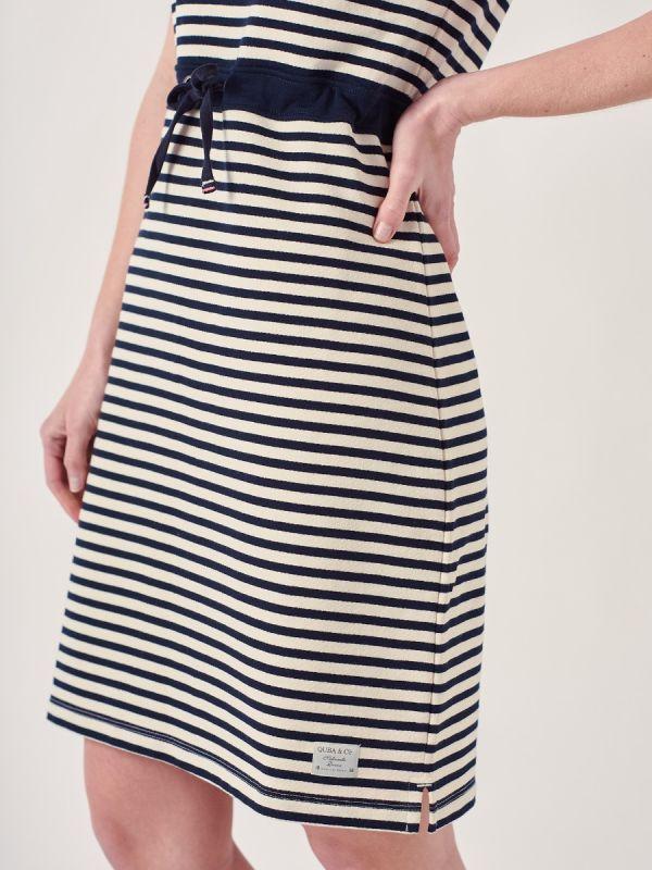 Clanara NAVY Tie Waist Jersey Dress | Quba & Co