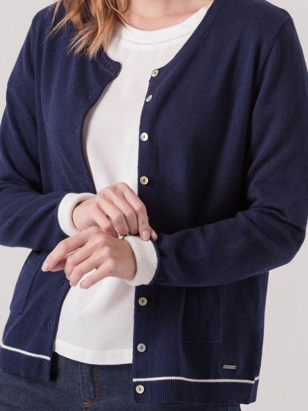 Clematis Button Cardigan