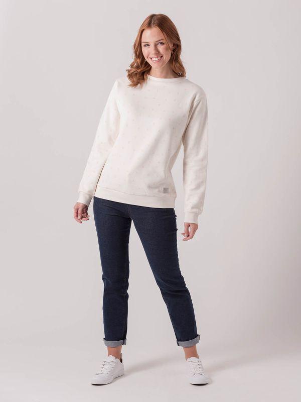 Cottonwood CREAM Bird Print Sweatshirt | Quba & Co