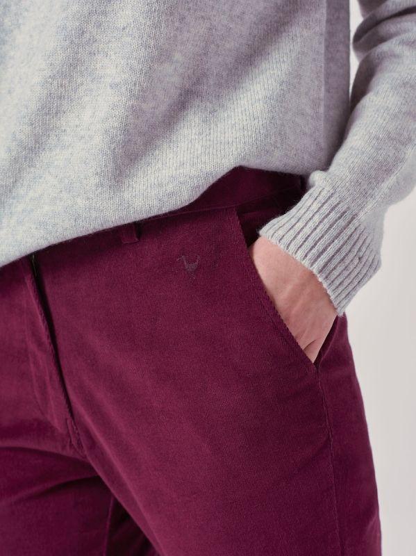 Delancey AUBERGINE Babycord Trousers