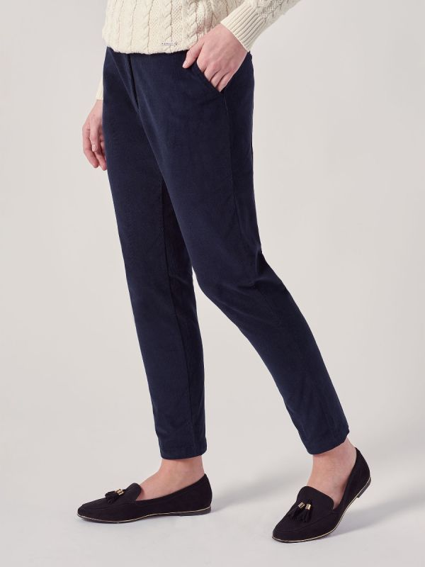 Delancey NAVY Babycord Trousers   Quba & Co