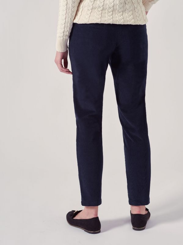 Delancey NAVY Babycord Trousers | Quba & Co