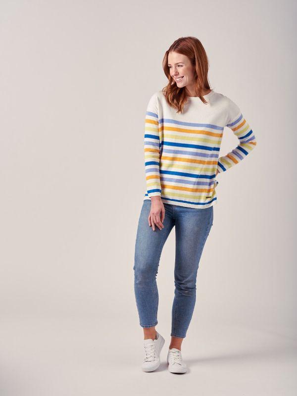 Elena MULTI Stripe Jumper | Quba & Co