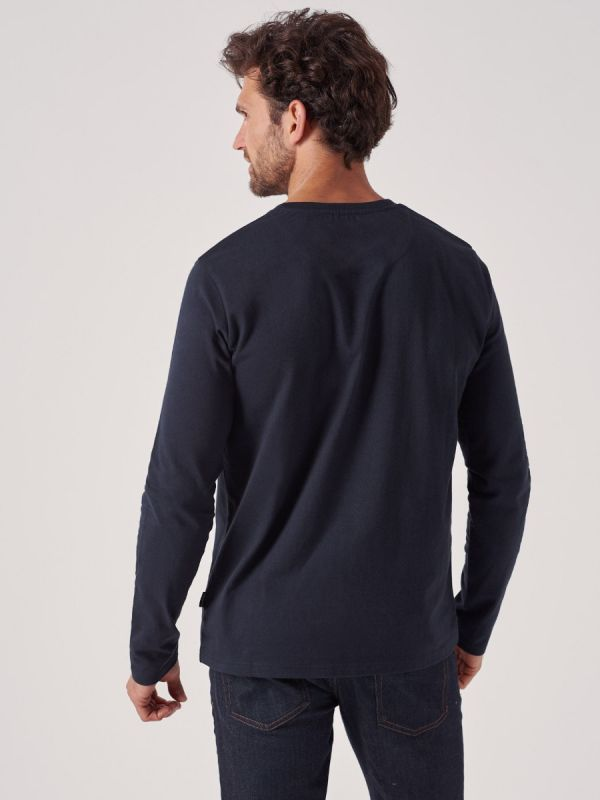 Elliot NAVY Long Sleeve T-Shirt | Quba & Co