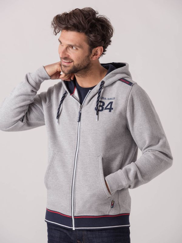Enzo X-Series GREY Full Zip Hoodie | Quba & Co