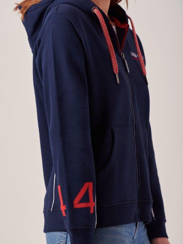 Fernanda NAVY X-Series Full Zip Sweatshirt   Quba & Co