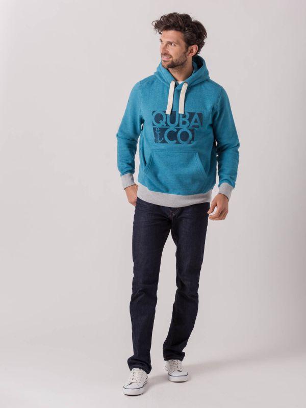 Flynn AQUA BLUE Graphic Hoodie   Quba & Co