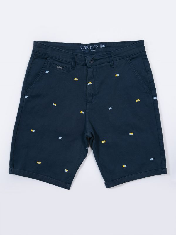Freddy NAVY Embroidered Chino Shorts | Quba & Co
