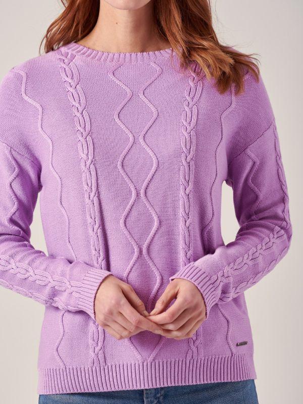 Gabriella LILAC Cable Knit Jumper   Quba & Co