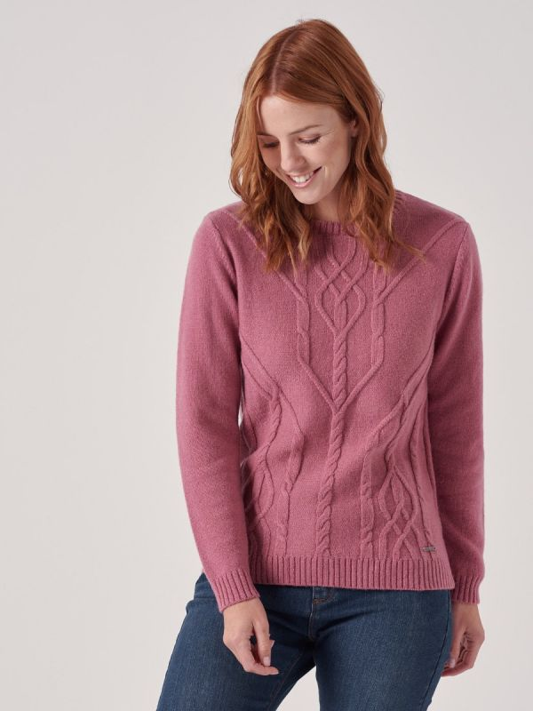 Genevieve PINK Cable Jumper | Quba & Co