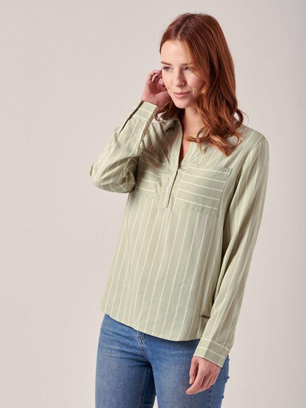 Greer GREEN Stripe Shirt | Quba & Co