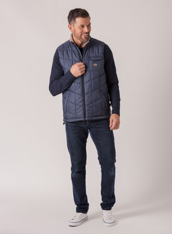 Grieg Quilted Gilet - Navy | Quba & Co Outerwear