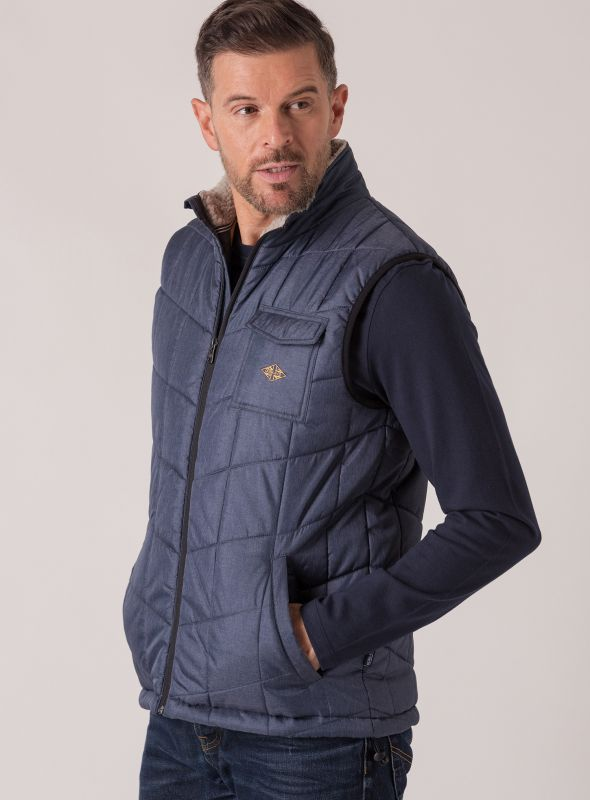 Grieg Quilted Gilet - Navy
