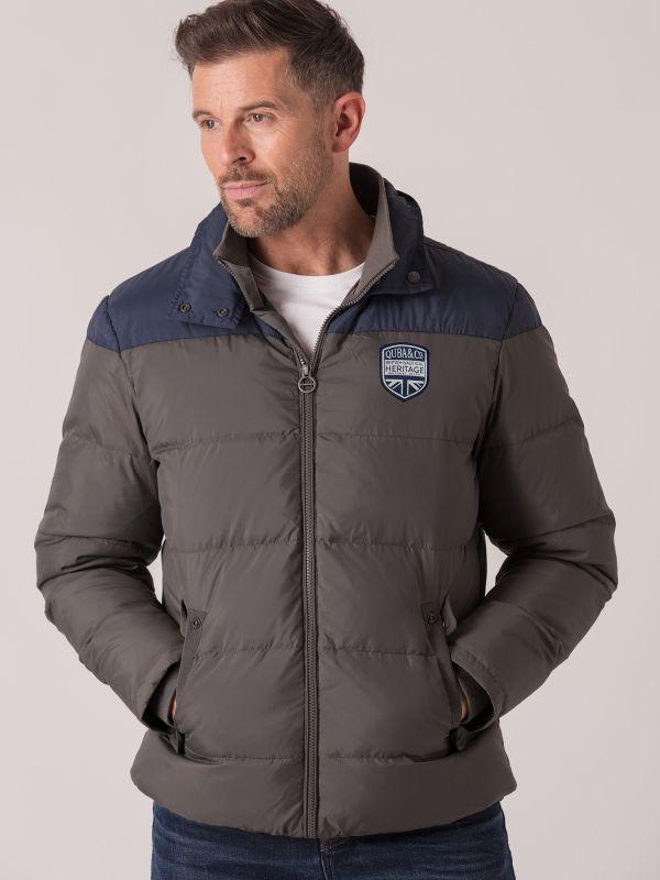 Gunner Down Padded Jacket - Beluga Grey