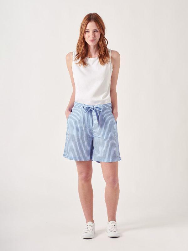Gwen BLUE Stripe Shorts   Quba & Co