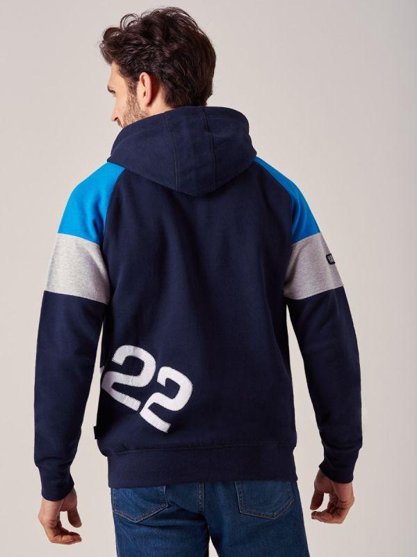 Hayadams NAVY X-Series Zip Hoodie | Quba & Co