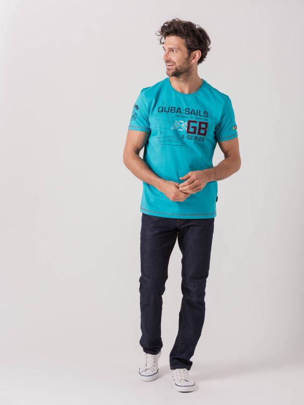 Herberto X-Series AQUA BLUE Graphic T-Shirt   Quba & Co