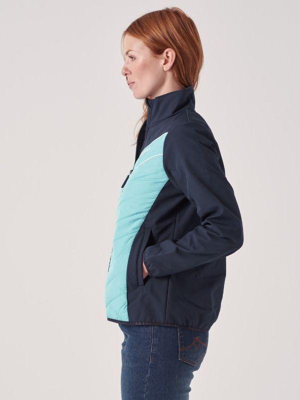 Impatien NAVY AQUA BLUE X-Series Softshell Jacket   Quba & Co