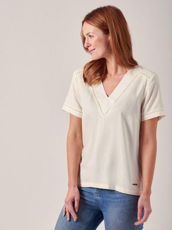 Josie WHITE Woven Top | Quba & Co