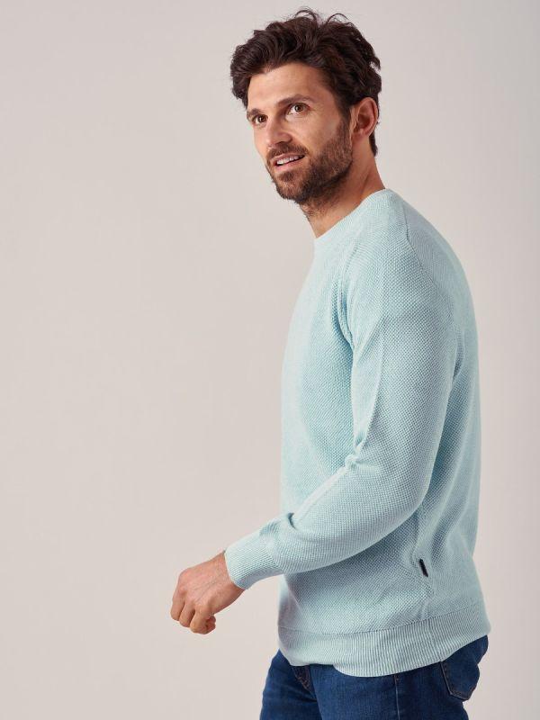 Kentish GREEN Textured knit Jumper | Quba & Co
