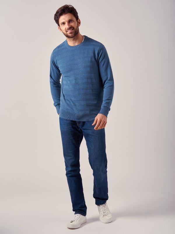 Kidwell BLUE Crew Neck Jumper | Quba & Co