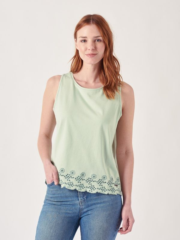 Lainey GREEN Embroidered Top   Quba & Co