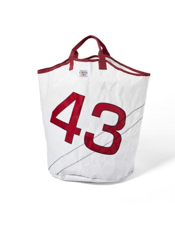 Larne WHITE Laundry Bag - Quba & Co Sailcloth Accessories