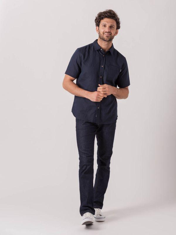 Lion NAVY Short Sleeve Shirt   Quba & co
