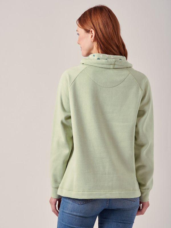 Livia SEAFOAM GREEN Cowl Neck Sweatshirt | Quba & Co