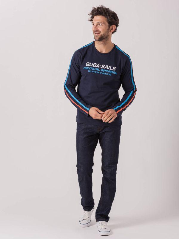 Luigi X-Series NAVY Long Sleeve T-Shirt   Quba & Co