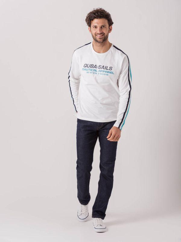 Luigi X-Series WHITE Long Sleeve T-Shirt   Quba & Co