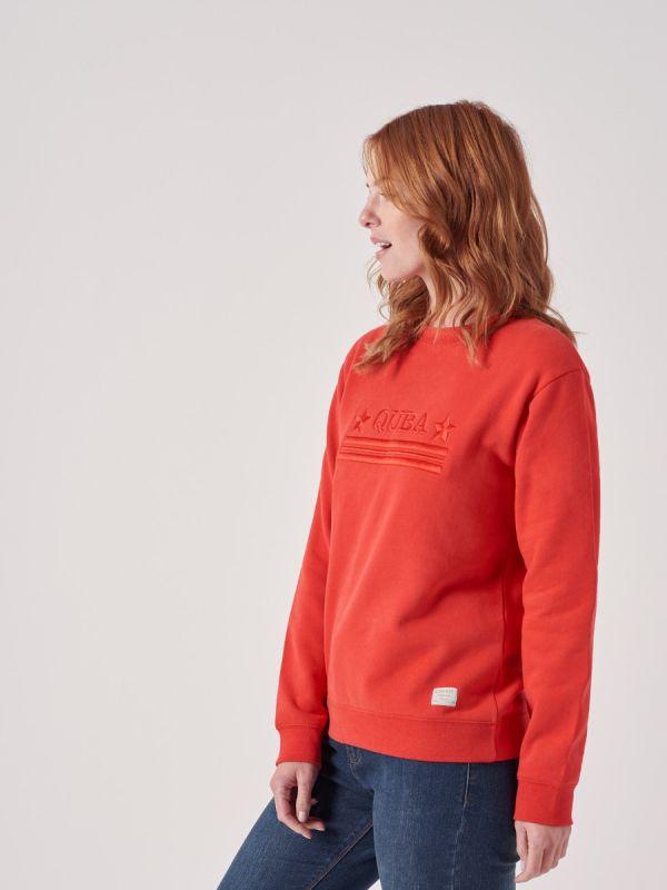 Lynette RED Logo Sweatshirt | Quba & Co