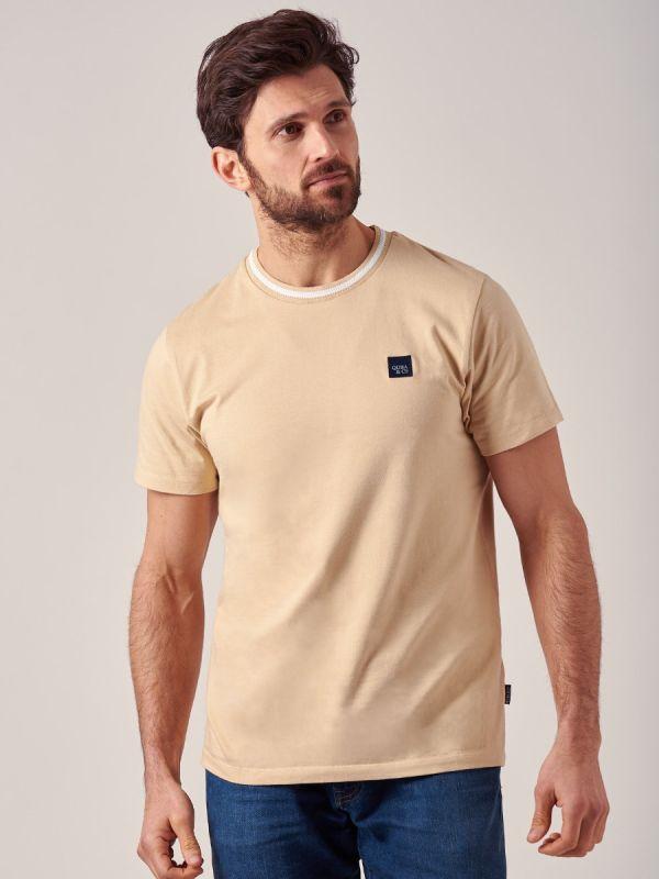 Magnum BEIGE Crew Neck T-Shirt   Quba & Co