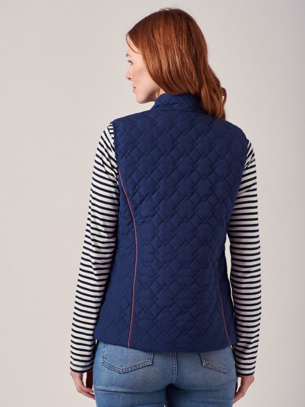 Marisol NAVY Quilted Gilet | Quba & Co
